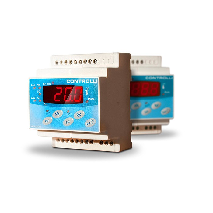 CONTROLLI W500T2MB Regolatore di temperatura configurabile con orologio ed interfaccia MODBUS