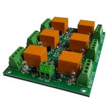 DAE-RB/Ro6-12V Modulo relè 6 canali DC 12V