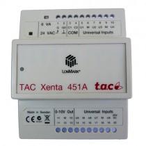 TAC Xenta 451A Modulo per 8 Ingressi Universali e 2 Uscite Analogiche