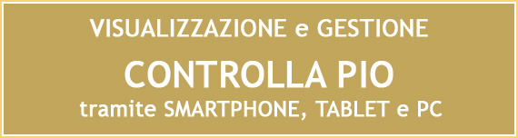 Controlla PIO tramite smartphone, tablet e PC